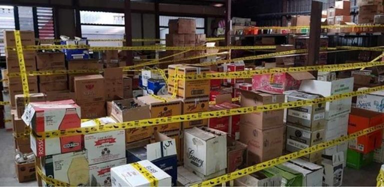 Tax Police Confiscated 500,000 Bottles of Liquor in Heredia