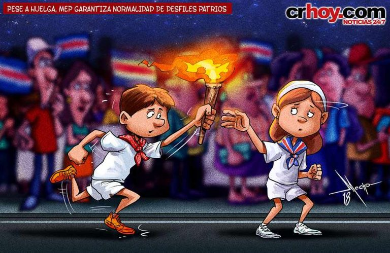 The Carrying Of The Torch of Independence!