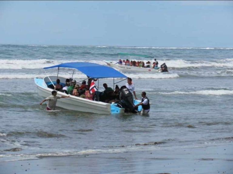 Boat with tourists overturned by whale in Drake de Osa