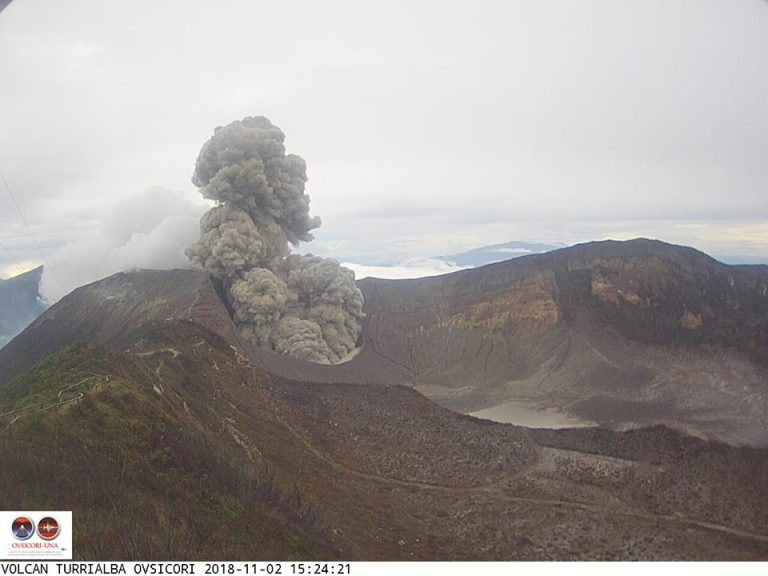Turrialba Continues With Eruptions