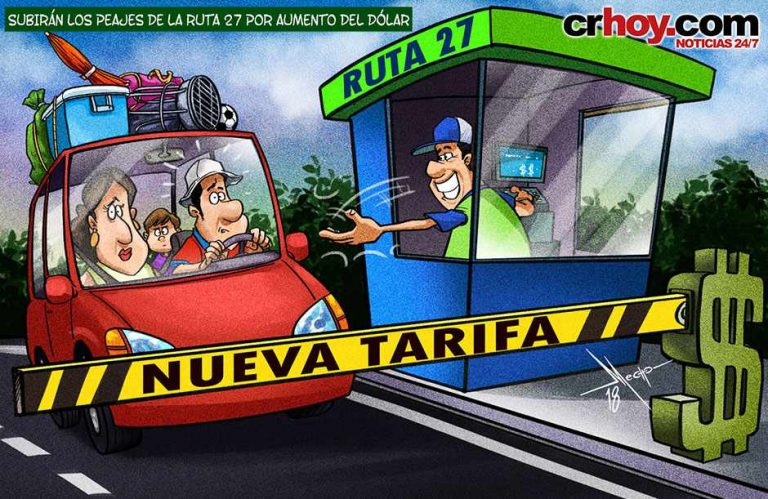 Price of the dollar pushes up the tolls on the Ruta 27