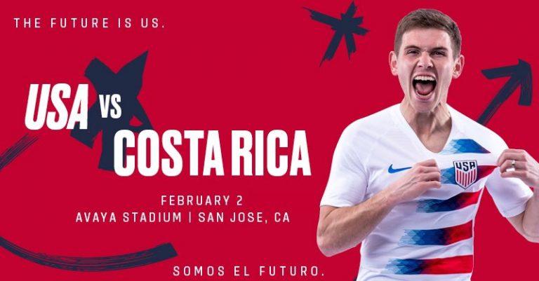 United States announces Feb. 2 friendly vs. Costa Rica in San Jose (California)