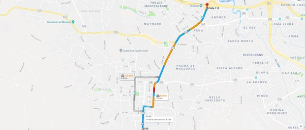 Escazu Roadwork To Cause Added Congestion This Coming Week