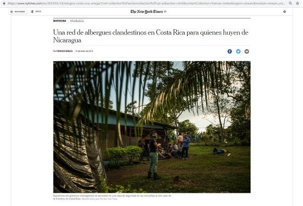 Government investigates alleged clandestine shelters in Costa Rica for the persecuted by Ortega