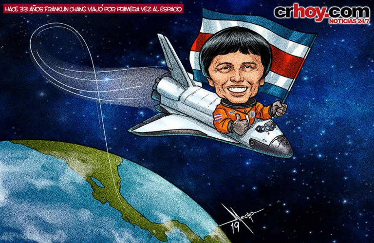 33 years ago, Costa Rican Franklin Chang traveled to space for the first time