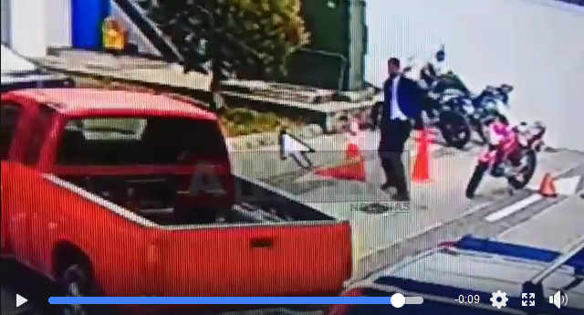The Moment Three Armed Robbers Killed By Lone Security Guard in Coronado