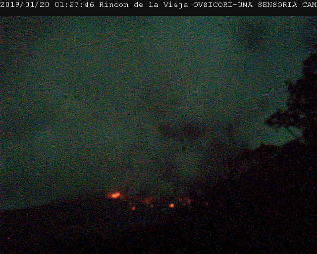 Rincon de La Vieja Volcano Eruption Sunday Morning