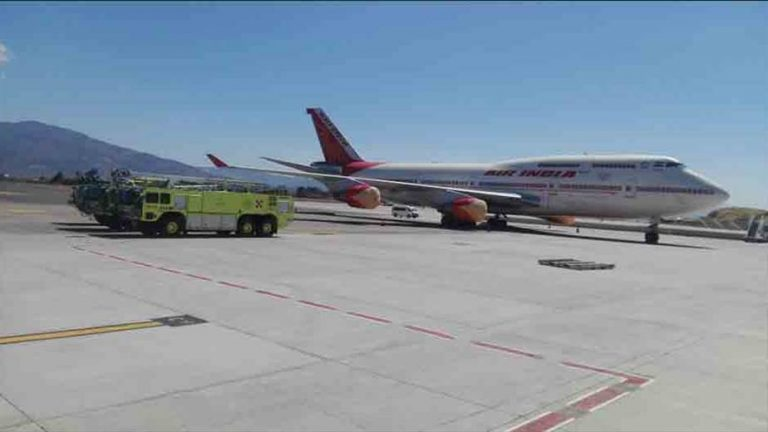 A Rare Event: Four 'Four-Engined' Jets Together At The San Jose Airport