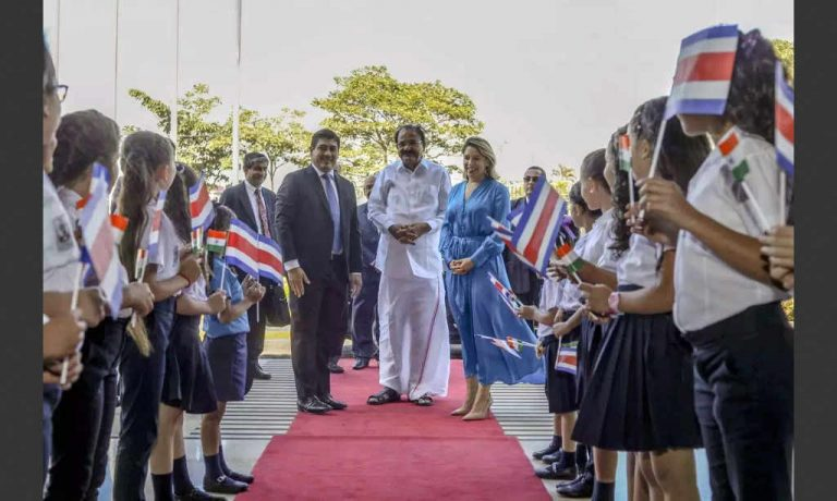 India's VP Visits Costa Rica To Discuss Bilateral Trade