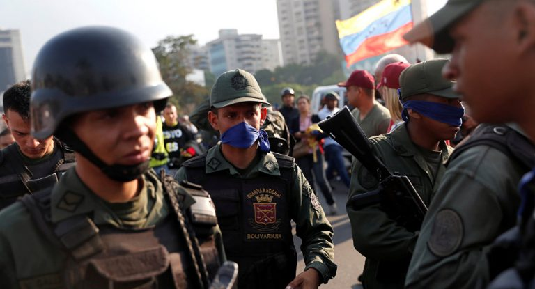 Watch Live: People Take To The Streets Outside Airbase After Guaido's Call For Military Uprising