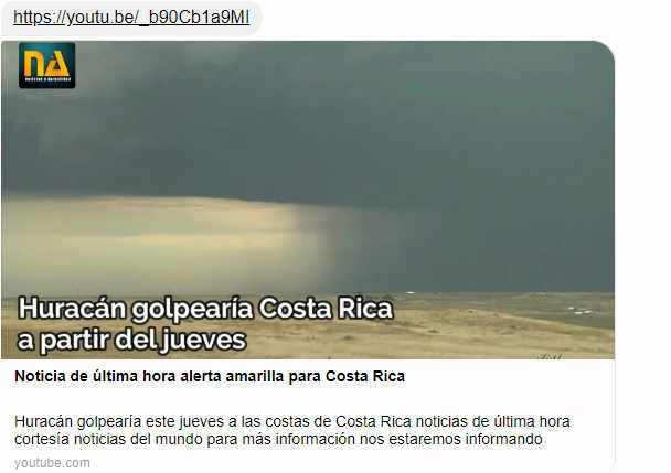Fake News That A Hurricane Will Hit Costa Rica On Thursday