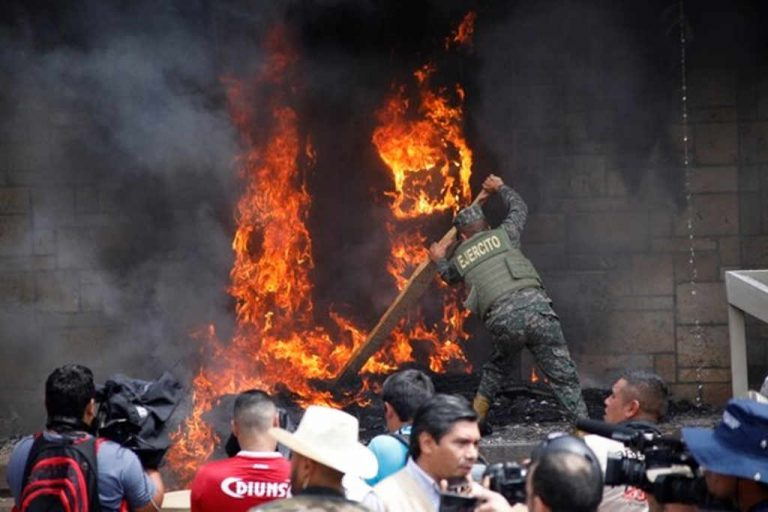 United States Embassy in Honduras Set On Fire