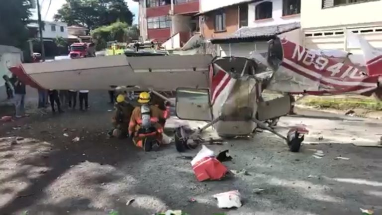 Small Plane Falls On Residential Street After Takeoff From Pavas Airport