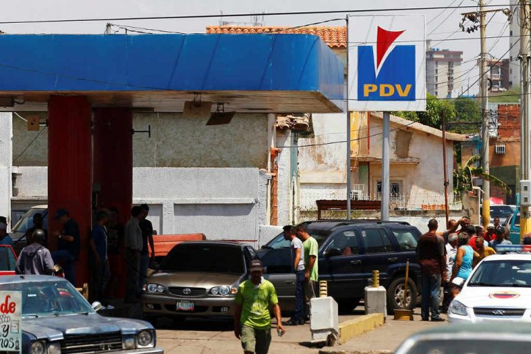 Venezuelans angry having to wait hours for fuel as shortages worsen