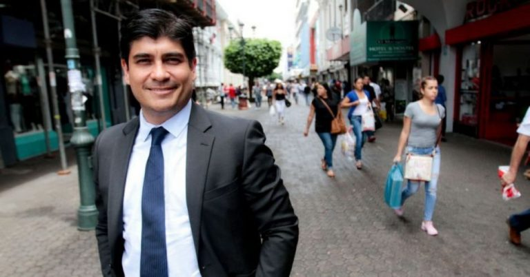 Few Came Out In Support of President Carlos Alvarado