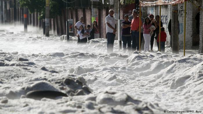 Hail storm buries parts of Guadalajara, Mexico in ice  (Photos)