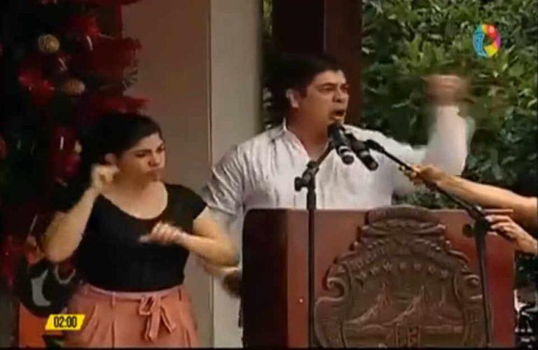 President Alvarado Booed In Guanacaste