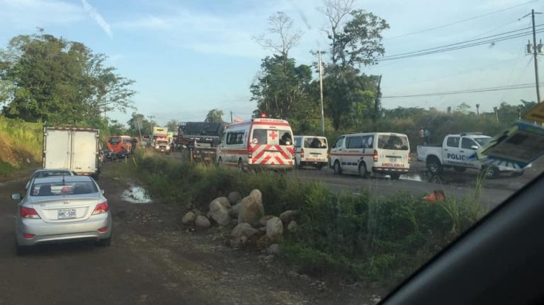 Crash Between Truck and Car Leaves 21 Injured (Photos)