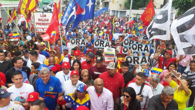 Anti-imperialist march takes to the streets of Caracas