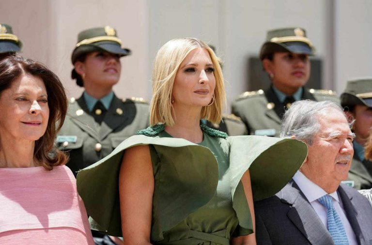 Ivanka Trump in Colombia acting as if everything is normal