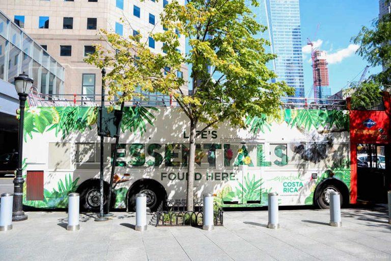 Costa Rica Tour Bus in NYC (Photos)