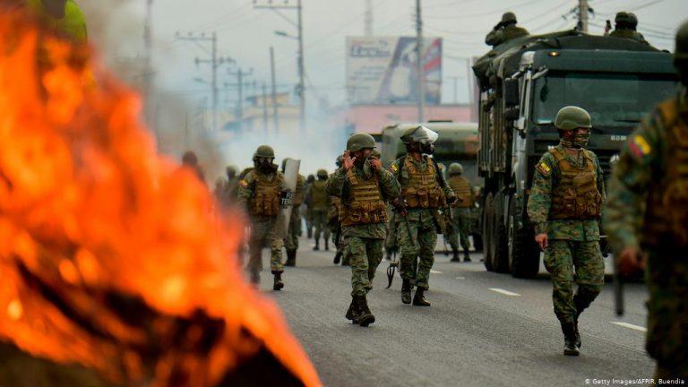 Ecuador president Moreno leaves Quito amid growing unrest