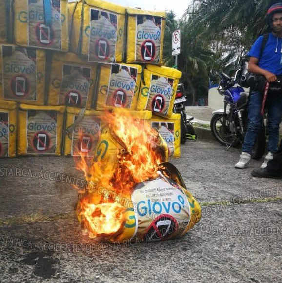 GLOBO Delivery Drivers Protested Monday