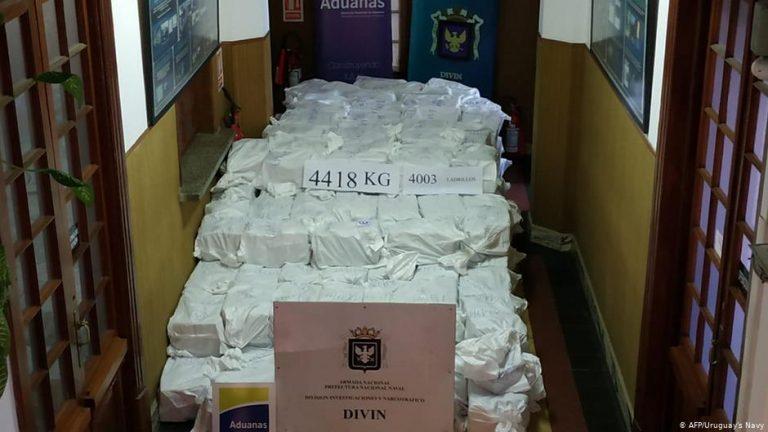 Massive cocaine haul seized in Uruguay