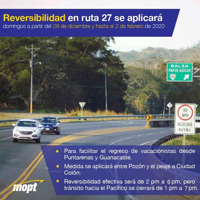 Reversibilidad Of Ruta 27 Begins On December 29