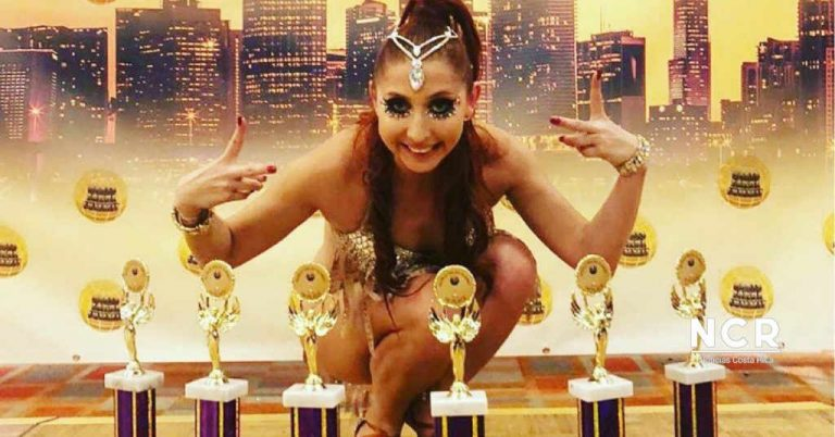 Lucía Jiménez leaves Costa Rica's name high and wins world title in: Salsa, Chacha and Bachata