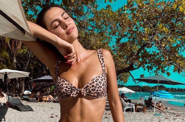 Costa Rican Model Karina Ramos Shows Off Her Incredible Abs, Sizzles In An Animal-Print Bikini