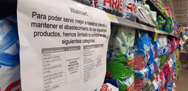 Walmart limits rice and beans to 6 bags per customer to avoid hoarding due to coronavirus