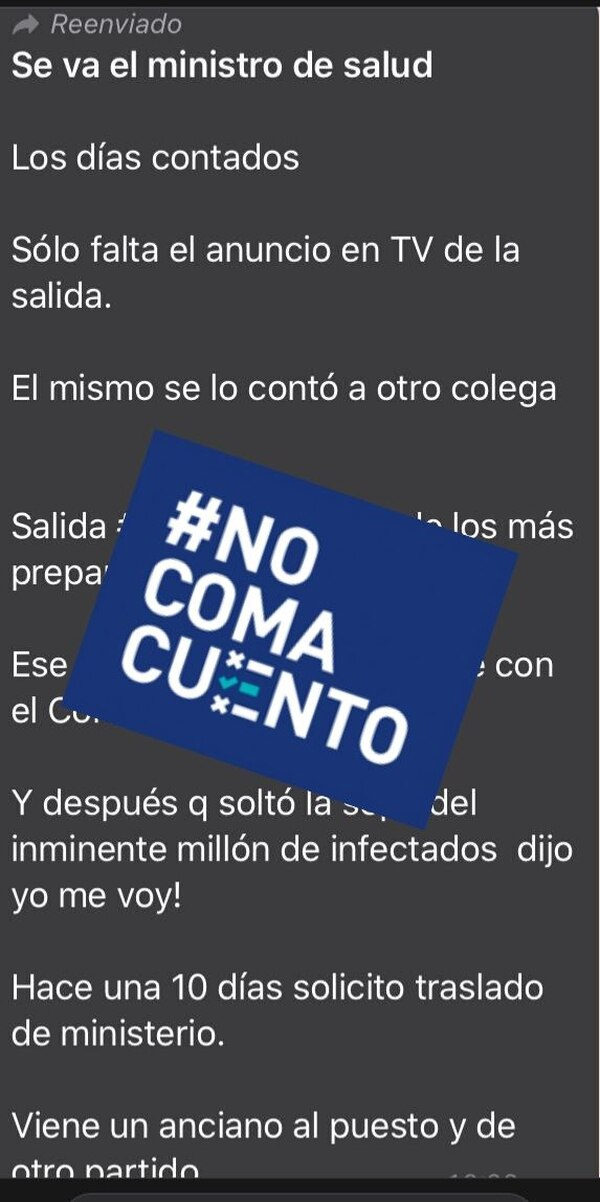 #NoComaCuento: Minister of Health, Daniel Salas, Did Not Resign