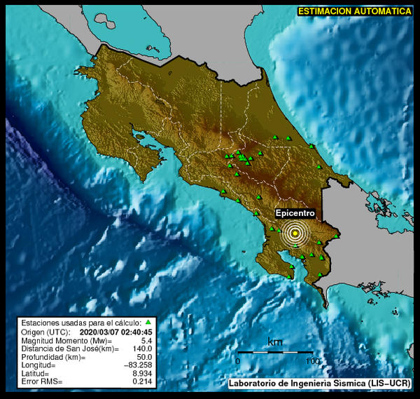 Was it a 5.4 or 5.8? Earthquake Shakes Costa Rica Friday Night