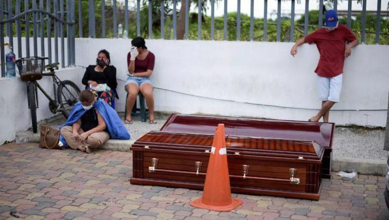 Ecuador struggles to bury the dead as bodies pile up