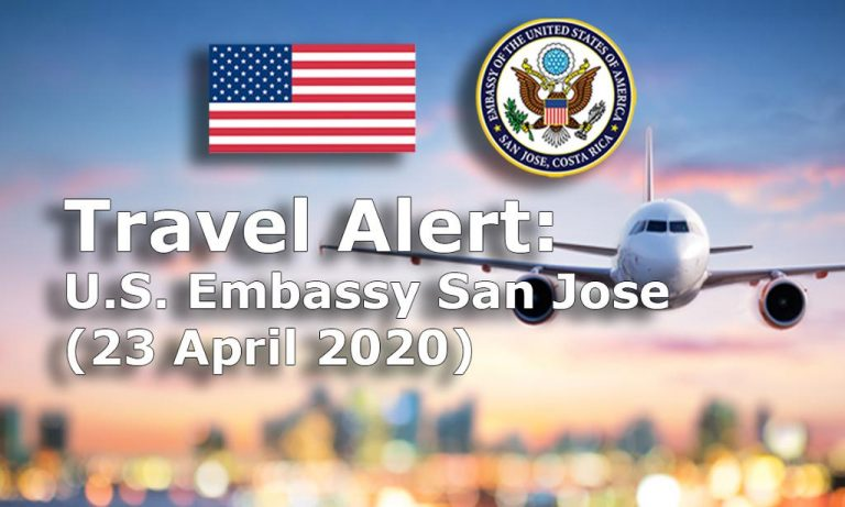 Travel Alert: U.S. Embassy San Jose Coordinates Repatriation Flight