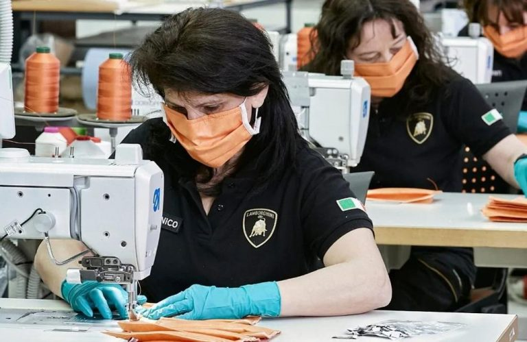 Lambo Producing Surgical Masks and Medical Shields