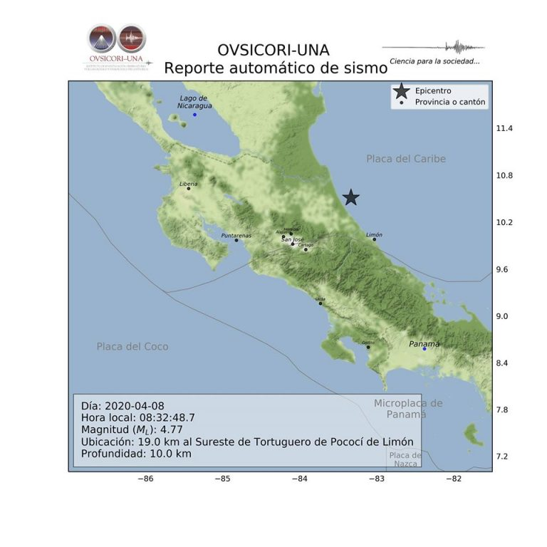 Strong earthquake shook Costa Rica this morning