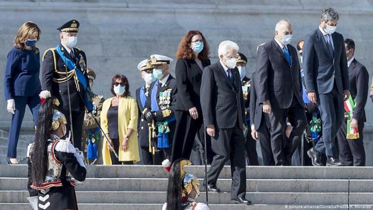 """Italian President Sergio Mattarella warns that the coronavirus crisis """"is not over"""""""