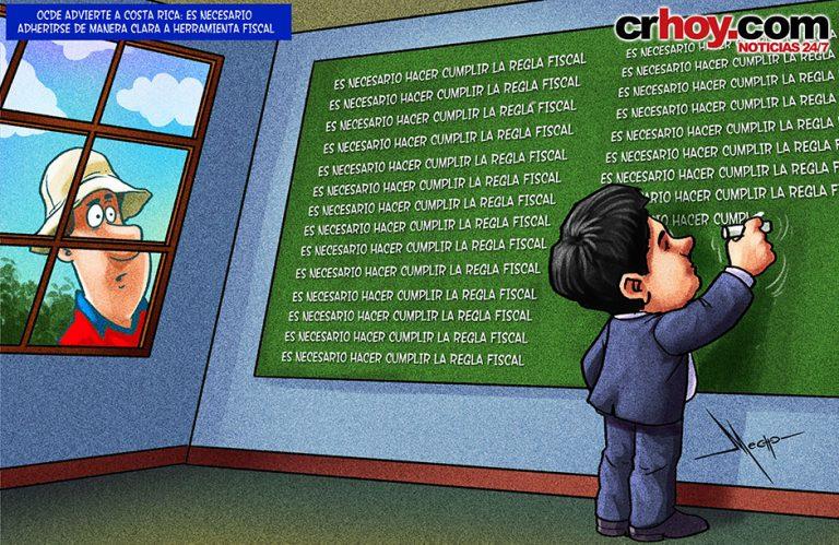 OCDE sends Costa Rica's president to the blackboard