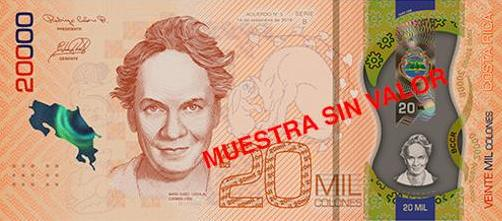 The new Costa Rica banknotes