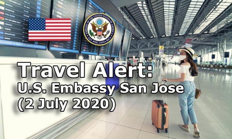 US Embassy schedules flights to repatriate its citizens in Costa Rica