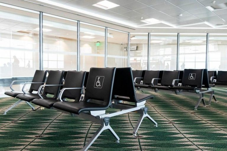 San Jose airport empty on reopening