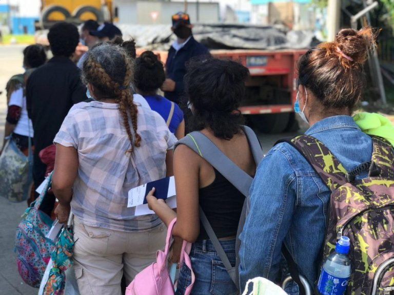 Nicaraguans stranded at border begin process for home
