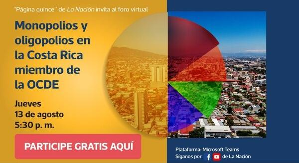 Experts to talk about monopolies and oligopolies in Costa Rica