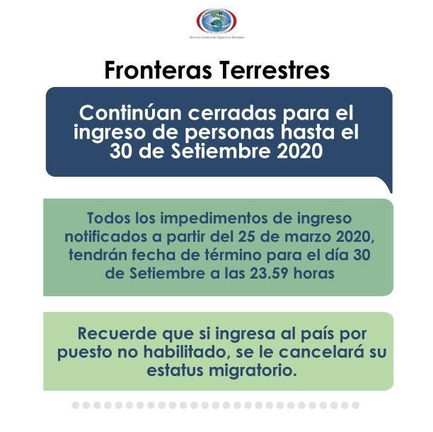 Costa Rica land borders continue closed