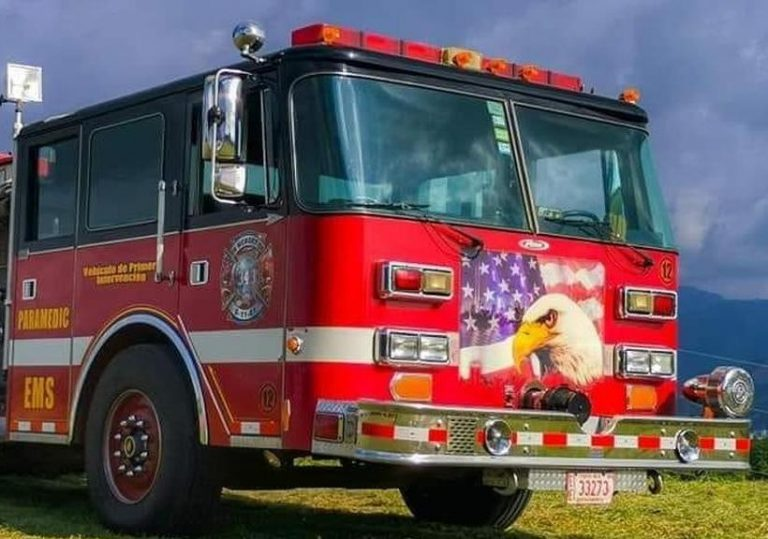 Fire truck that was in the 9-1-1 attack is in service in Costa Rica