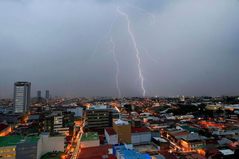 More than half a million lightning strikes have struck this year in Costa Rica