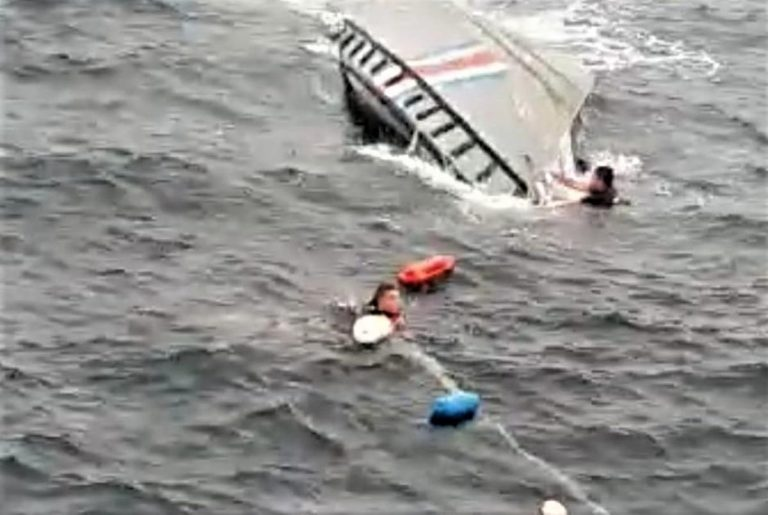 Coast Guard boat sinks with four officers on board while chasing narco boat