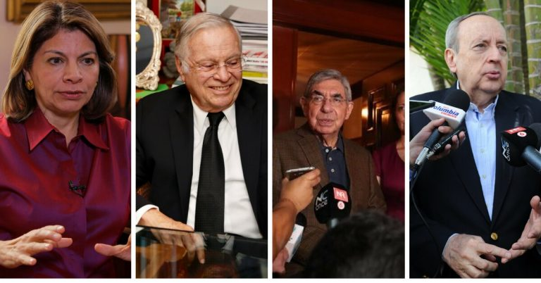Six former presidents give support to the Government and democratic institutions